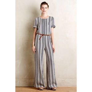 Anthropologie Highline Jumpsuit Harlyn Small Linen